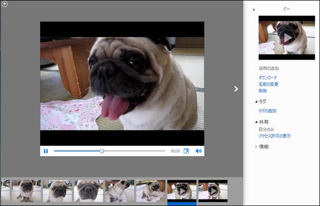 更に、新しい SkyDrive ではHTML5 Video にも対応し、H.264 動画 (100MB まで) の再生も可能になりました。