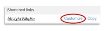 bit.ly URL のカスタマイズ